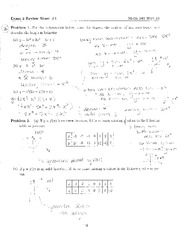 Exam 3 Review Sheet #1 Solutions