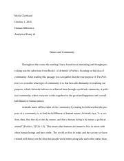 Analytical Essay Ethics