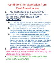 16 FALL Conditions for exemption from final exam.docx