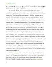 Essay on EU Emissions
