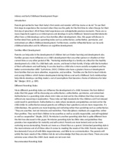 infancy early childhood development paper essay Case study child development case study is on a young girl named hannah she was observed in a classroom at the early learning center she is 4 years old she is the only child, and lives with her father and grandmother throughout the paper, it compares hannah's development to what.