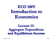 Lecture 13 - ECO100 - S2012