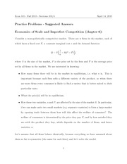 Practice Problems - April 14 - suggested answers