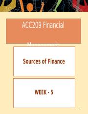 Week  05 - Sources of Finance.pptx