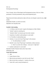 PSY 101 Notes 3-20 Developmental Psy & Exam Review