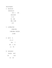 Chapter 2 Test Problems even numbers