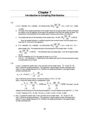 Sampling Distributions Homework Answers 2013