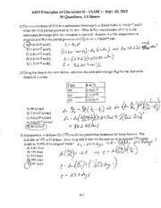 Fall 2013 - Exam 1 Solutions (Ch 13/14)