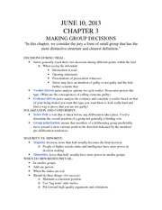 Chapter 3: Making Group Decisions