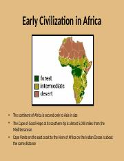 Early Civilization in Africa revised.ppt