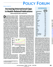 Increasing International Gaps in Health-Related Publications