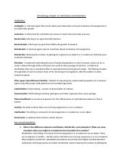 Microbiology Chapter 12 Sterilization and Disinfection.docx