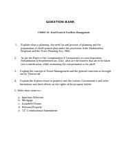 Question Bank - Real Estate & Facilities Mngt.docx