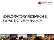 MKT 352- Slides 5- Exploratory Research