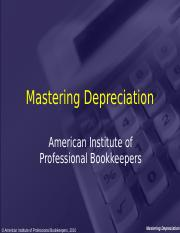 Mastering Depreciation.ppt