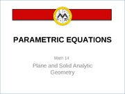 L14 Parametric Equations