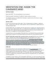 MEDITATION ONE - INSIDE THE CAVEMAN'S MIND.docx
