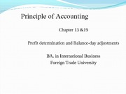 Chapter 13 & 19 Profit determination and balance-day adjustments_CLC