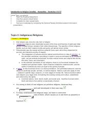 Introduction to Religion -Topic 2 - Oral Traditions.docx