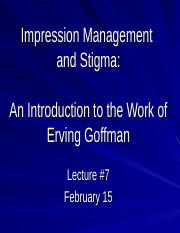 2017 Lecture 7 Goffman.ppt