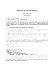 Overview of Web Programming