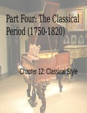 The Classical Period(1) notes
