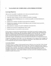 Topic 7 Taxation of Companies  Other Entities - notes.pdf