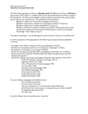 mao study guide Meisner contends that when mao became an avowed marxist in 1919, his thoughts that would later guide his interpretation of marxism and revolution were already get free access to this mao's china study guide start your 48-hour free trial to unlock this resource and thousands more study guides get better grades.
