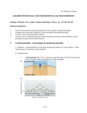 2011 Graded Potentials and Neuromuscular Transmission