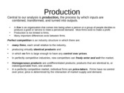 The Production Process