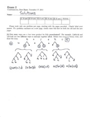 Exam 2 Solution Fall 2011