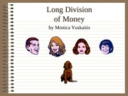 Division of Money