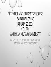 Emmanuel Obeng COLL100 (RETENTION AND SUCCESS).pptx