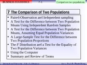 Chapter 08 - Comparison of Two Populations