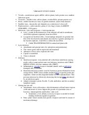 VIROLOGY STUDY GUIDE