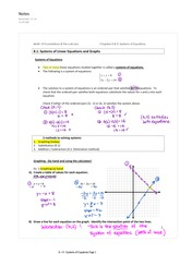 8.1 Systems of Linear Equations and Graphs