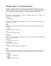 CIS166AE - Module 4 - Conditional Statements.pdf