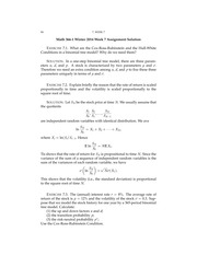 Math 366-1 Week 7 Assignment-Solution