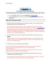 10.Central Limit Theorem Quiz and Homework1.docx