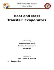 Heat and Mass Transfer - Evaporators.docx