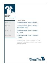 INTERNATIONAL STOCK