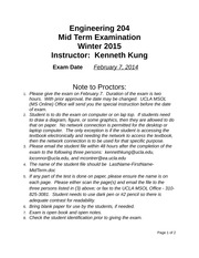 2015 Midterm Instructions