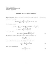 Solutions of 3.5-2, 3.5-3 and 3.5-4
