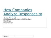 How Companies Analyze Responses to an RFP