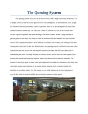 Bookstore Quing System Analysis Report
