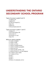 Understanding the Ontario Secondary School Program