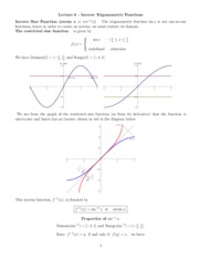 6 Inverse Trig Functions