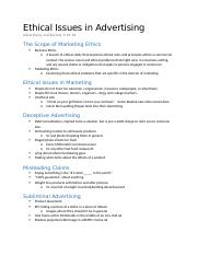 Advertising Notes 9-29