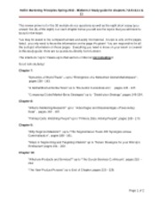 Midterm 2 Study Guide Spring 2012