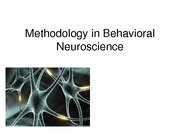 Lecture 5 Animal Methods I